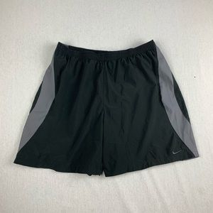 Vintage Nike Dri Fit Running Shorts Black Grey